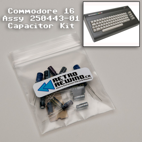 Commodore 16 Capacitor Kit - Assy 250443-01
