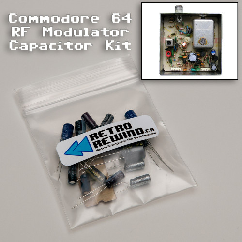 Commodore 64 RF Modulator Capacitor Kit